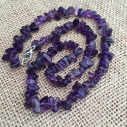 Amethyst Necklace Natural Crystal Stone Chips