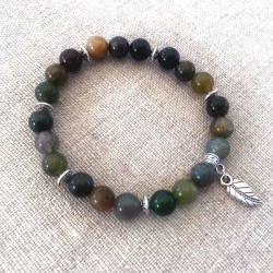 Agat sten armbånd Natural Indian Agate