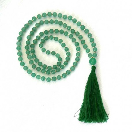 Mala 108 Green Aventurine Beads Gemstone jewelry