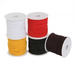 Coated Elastic Cord 0.8mm DIY Jewelry Thread
