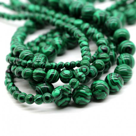 Malachite Gemstone Beads 6mm / 8mm / 10mm