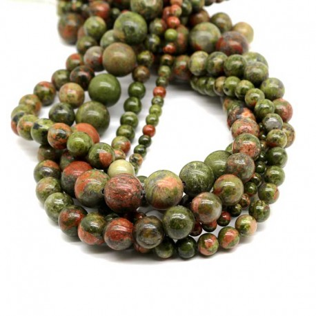 Unakite Gemstone Beads 6mm / 8mm / 10mm