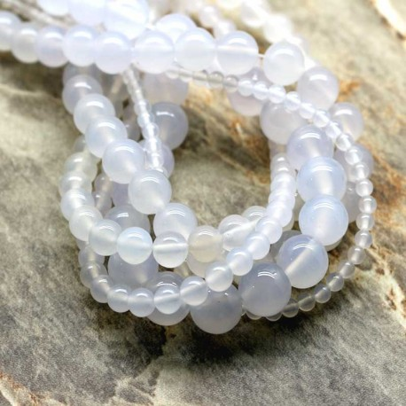 Jade White Gemstone Beads 6mm / 8mm / 10mm DIY jewelry