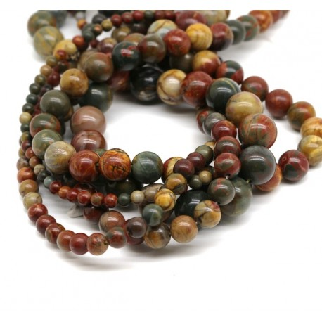 Jasper Picasso Gemstone Beads DIY Jewelry