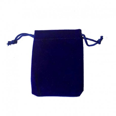 Jewellery velvet pouch drawstring dark blue