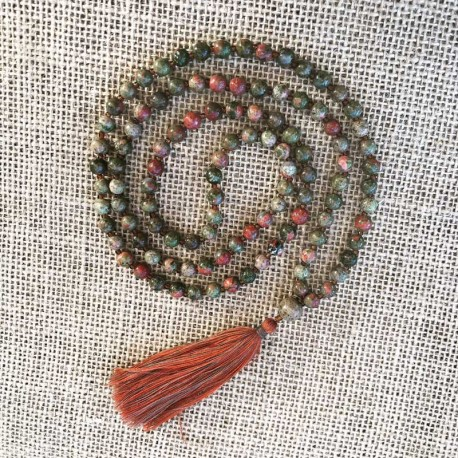 Mala Unakite 108 beads prayer necklace