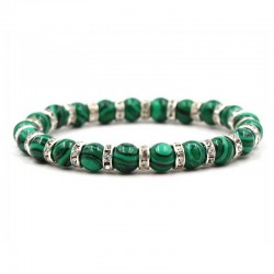 Malachite Bracelet Crystal Spacer Beads