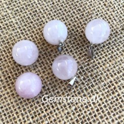 Rose Quartz Round Ball Pendant for a Necklace