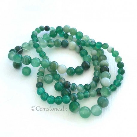 Green Striped Agate Beads Natural Stone