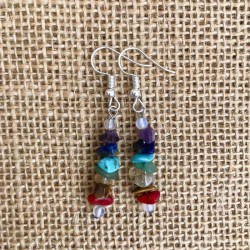 Chakra Earrings genuine gemstone yoga jewellery