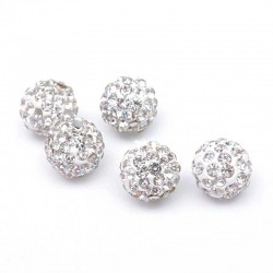 Pavé Crystal Beads Clear Rhinestone 10mm DIY Jewelry