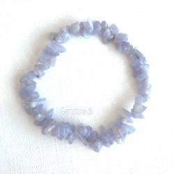 Blondeagat armbånd Natural Blue Lace Agate Chips