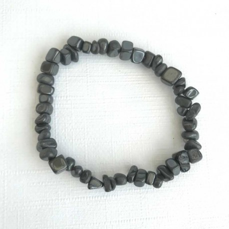 Hematite Bracelet Natural Gemstone Chips