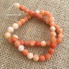 Agate Frosted Orange Beads