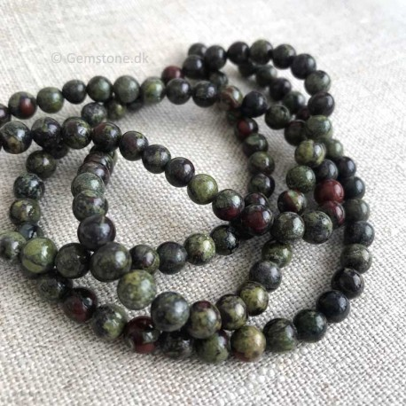 Heliotrop Beads Natural Dragon Blood Stone