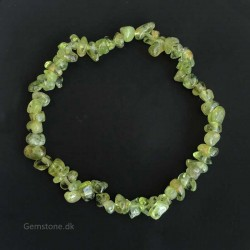 Green Peridot Gemstone Chips Bracelet Natural Crystal Stone