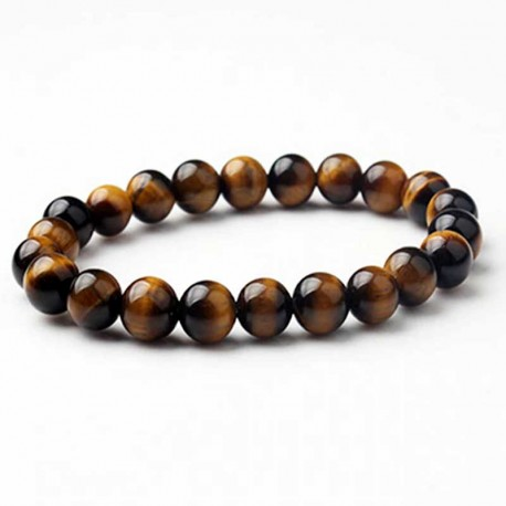 Tiger Eye Bracelet 8mm Gemstone Beads