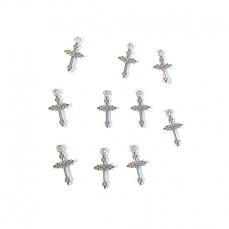 Cross Silver Charms Bracelet Pendants DIY Jewelry