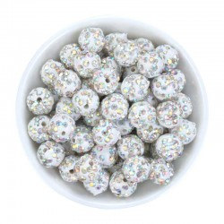 Rhinestone AB Pavé Crystal Beads 10mm DIY Jewelry