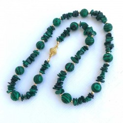 Malachite Gemstone Necklace Magnet Clasp