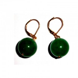Jade Earrings Dark Green gemstone jewellery