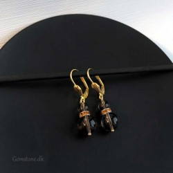 Smoky Quartz Earrings Gold Plated Leverbacks