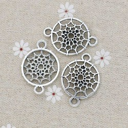 Dreamcatcher Charms Pendants Connectors Silver DIY jewelry