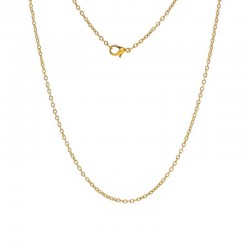 Necklace Gold color Oval Cable Chains Lobster Clasp