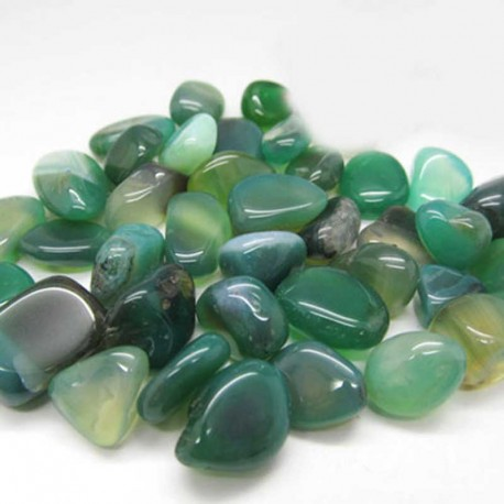 Agat Grøn sten Natural Tumbled Green Agate