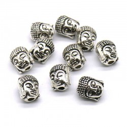 Buddha Silver Spacer Beads 10mm Pendant