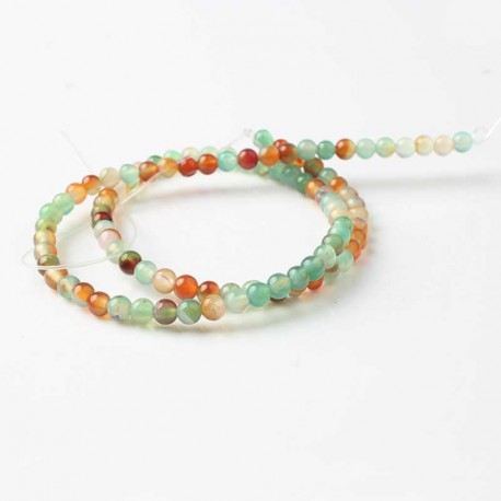 Agat sten perler Natural Colorful Agate Beads 1 streng