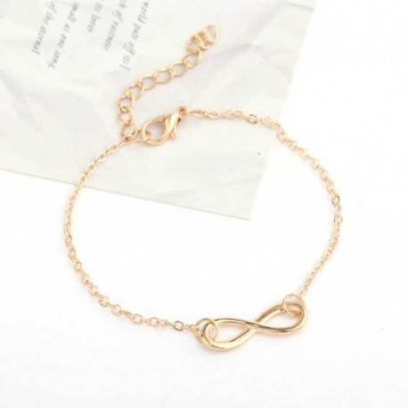 Chain Bracelet Gold Color Eternity Symbol