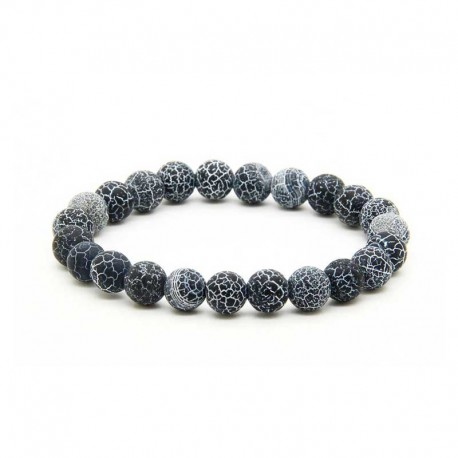 Mens Bracelet Agate Frost Stone 8mm Beads
