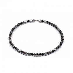 Magnetic Hematite Necklace 6mm Beads