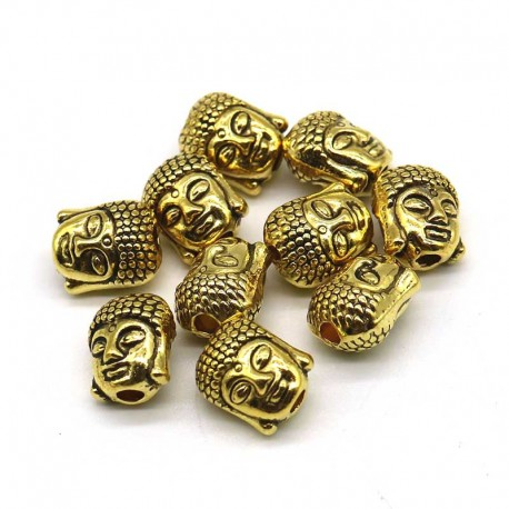 Buddha Gold Spacer Beads 10mm Pendant