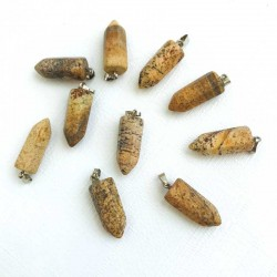 Picture Jasper Pendant Stone Pencil Point