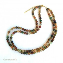 Agate Necklace Faceted Natural Colorful Agate Gemstone