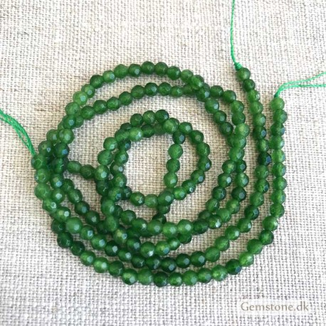 Jade Green Beads Natural Faceted 4mm 1 Strand