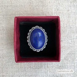 Lapis Lazuli Ring Silver Vintage Adjustable Size