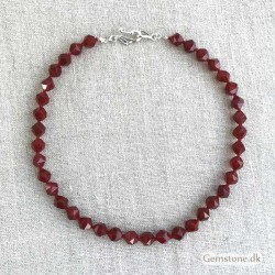 Red Carnelian Necklace 10mm faceted Beads