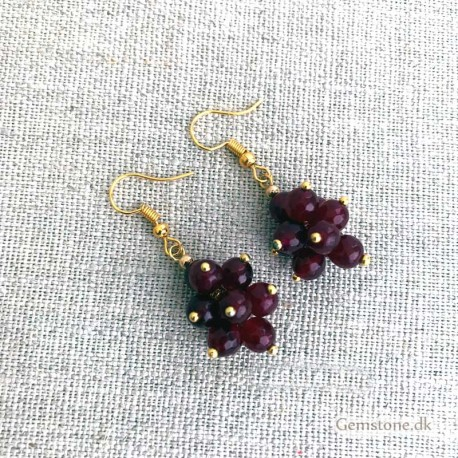 Ruby Earrings Faceted Natural Red Ruby