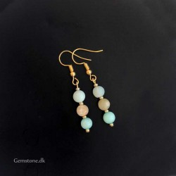 Amazonite Earrings Natural Stone Colorful Amazonite