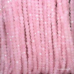 Rose Quartz Faceted Beads 4mm 1 Strand Natural Crystal Stone