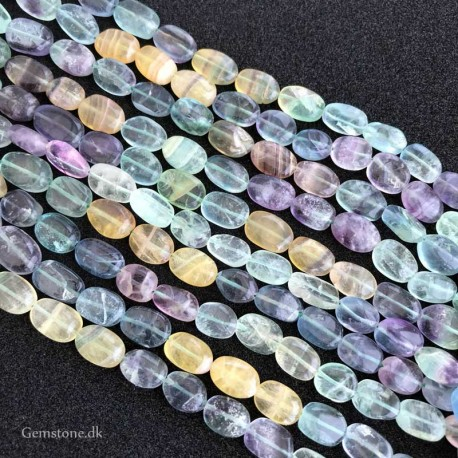 Fluorite Beads Oval 10x5mm Natural Colorful Fluorite
