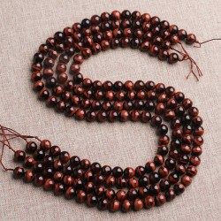 Red Tiger Eye Beads Natural Stone