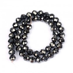 Hematite Faceted Beads 6mm Natural Stone