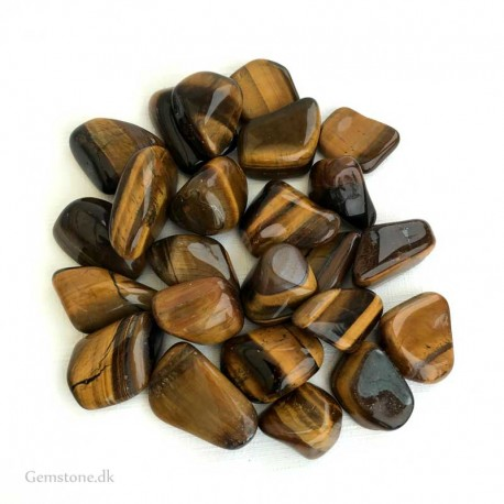 Tiger Eye Gold tumbled gemstones Large