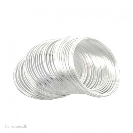 Memory wire for Bracelets Stainless Steel Silver Plated