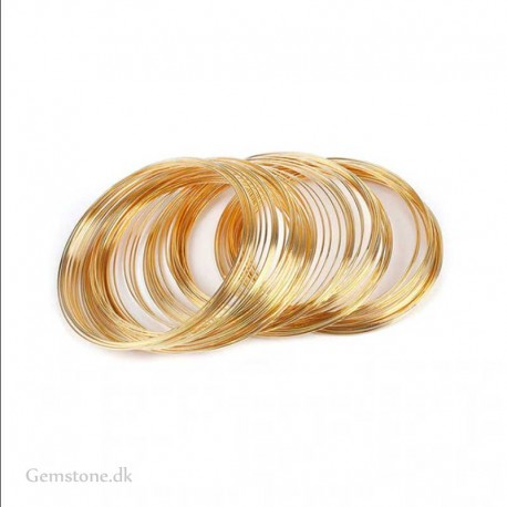 Memory wire for Bracelets Stainless Steel Gold Color