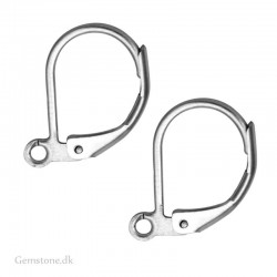 Ear Hook Leverback Silver Plated Brass